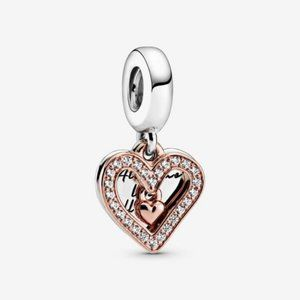 ❤️Sparkling Freehand Heart Dangle Charm
